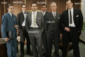The Men Wearing Suits.
