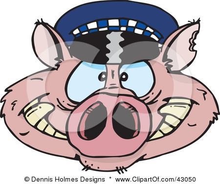 43050-Clipart-Illustration-Of-A-Police-Cop-Pig-Face