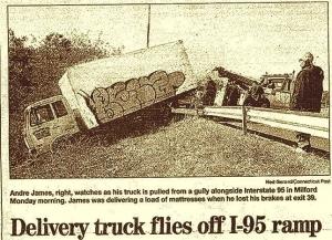 BELZ IOF- Delievery Truck- Hartford Courant