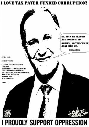Oppression JOHN KEY.(Newzealand primeminister) BY:TRUANT.NZSC-THD.