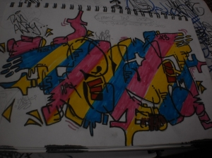 Throwup mixed with that wildstyle. (;