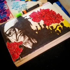 [p] [graff] Goerge Romero