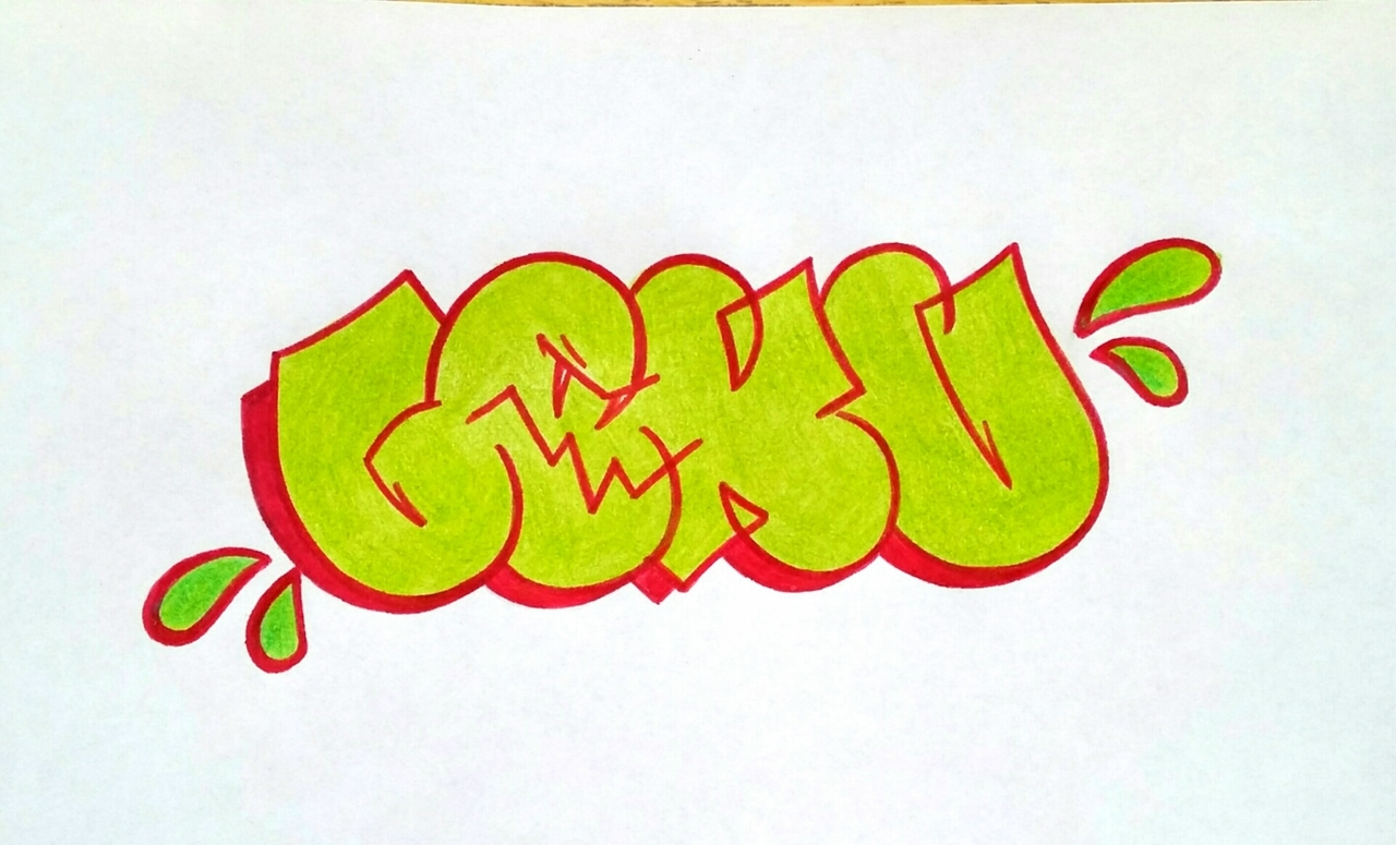 ..did a throwie after long time lol ._.