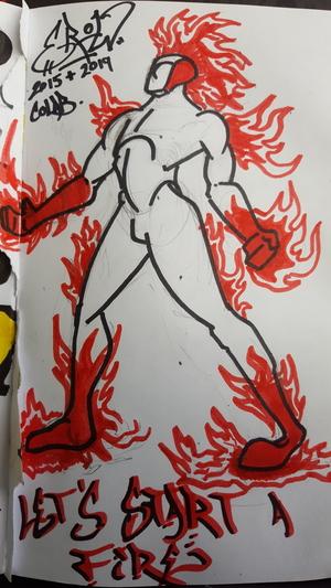 ER0W Man on fire