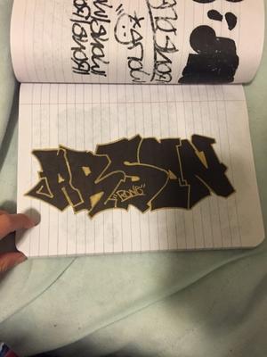 """""""ARSON"""" Graffiti sketch"""