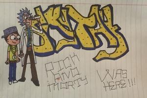 Rick And Morty Graffiti