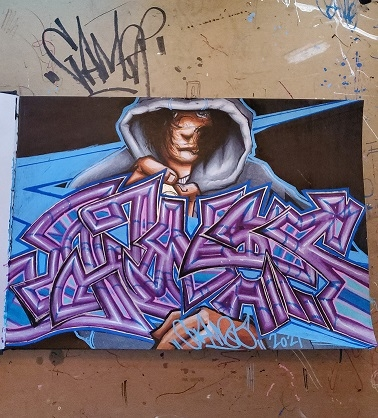 My entry for The Traveling Blackbook Project